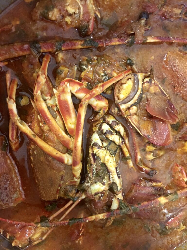 lobster in tomato sauce